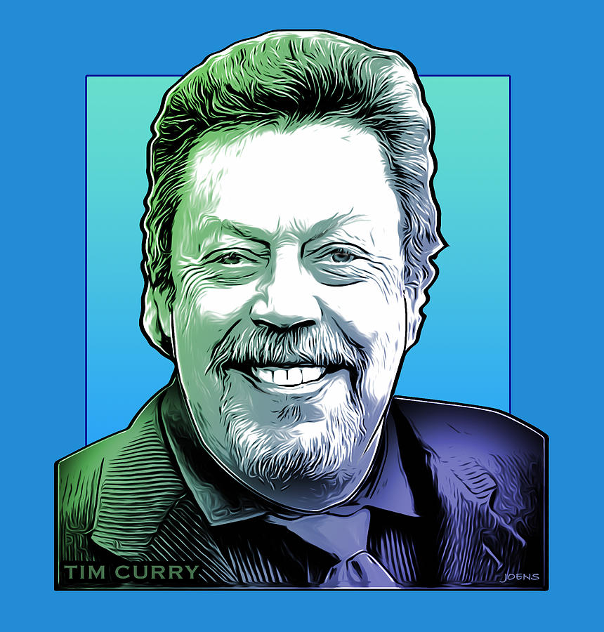 Tim Curry Drawing - Tim Curry by Greg Joens