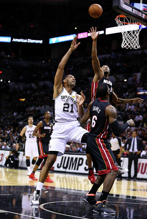 Tim Duncan and Rashard Lewis Photograph by Andy Lyons