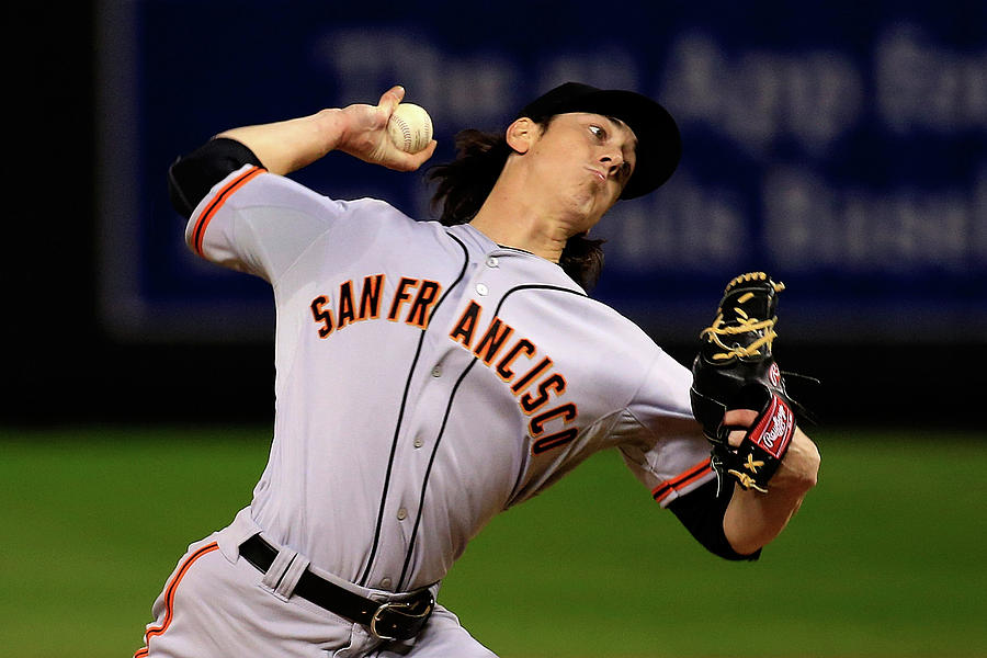 Tim Lincecum Photograph by Jamie Squire