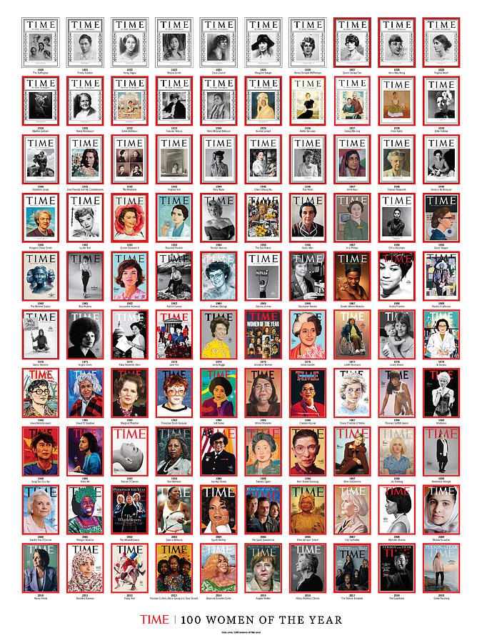 TIME 100 Women of the Year Poster -  For artist credits visit time.com/100-women-of-the-year Photograph by Various Artists