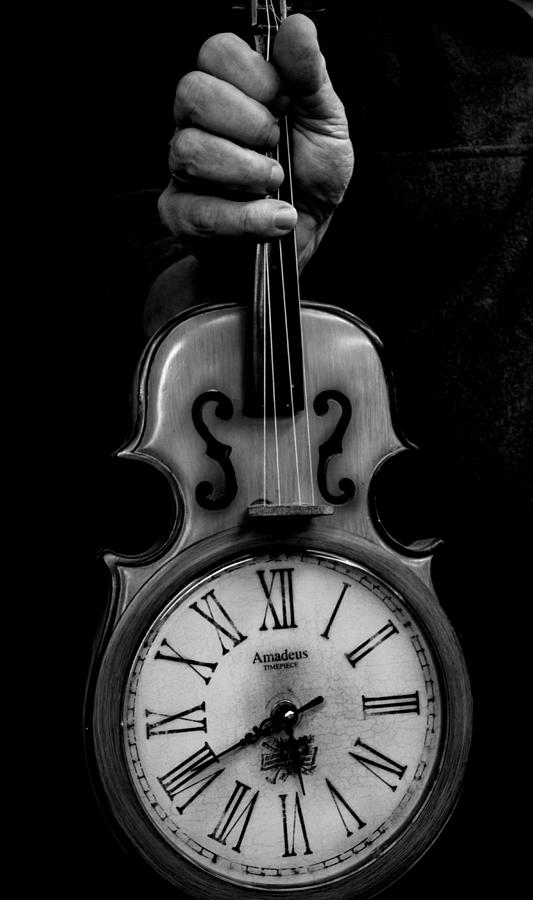 Violin Photograph - Time Hijacked by Paul Malen