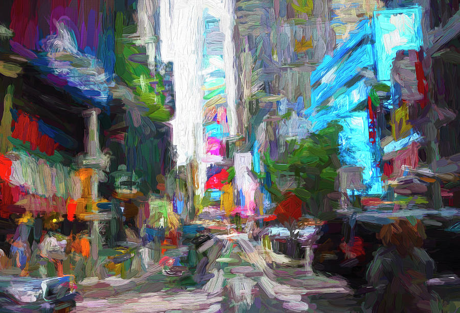 Times Square Abstract Photograph