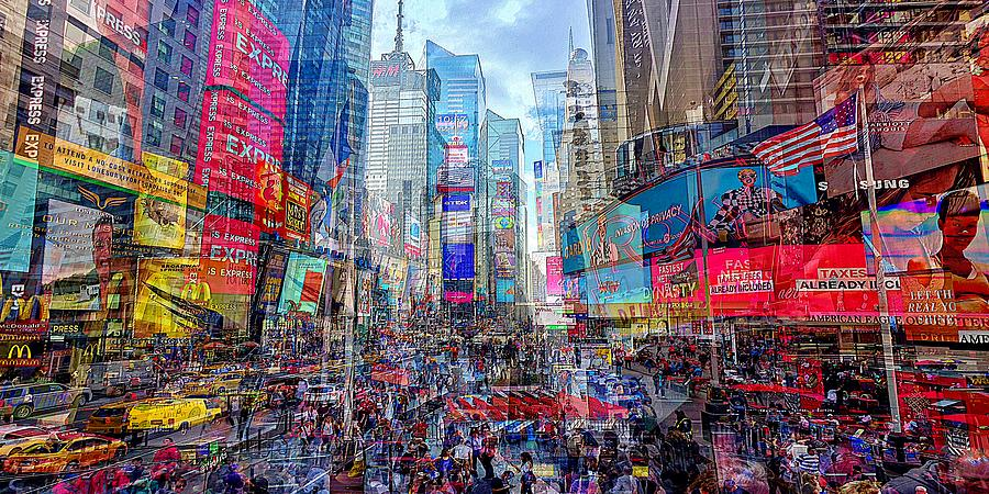 Times Square Mash Up by David Manlove