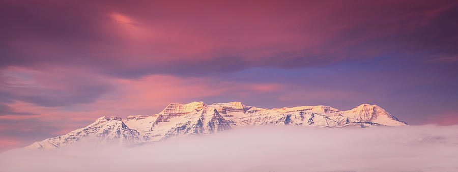 Timp Winter Fog Pano Photograph