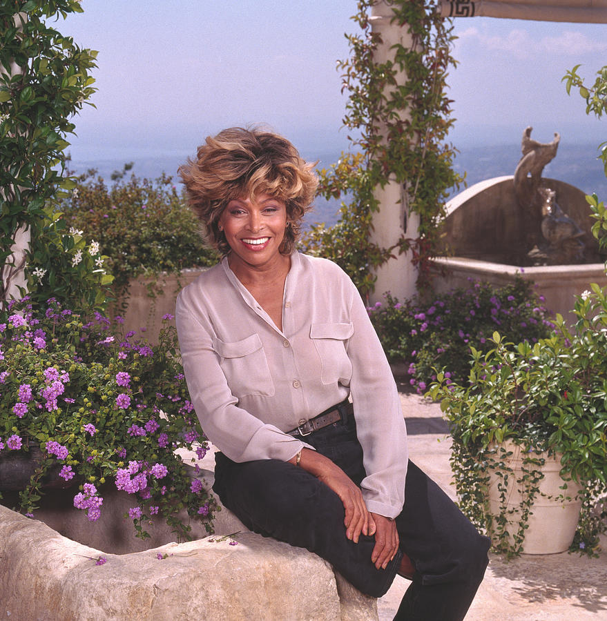 Portrait of Tina Turner in the French Riviera Photograph by Jim McHugh