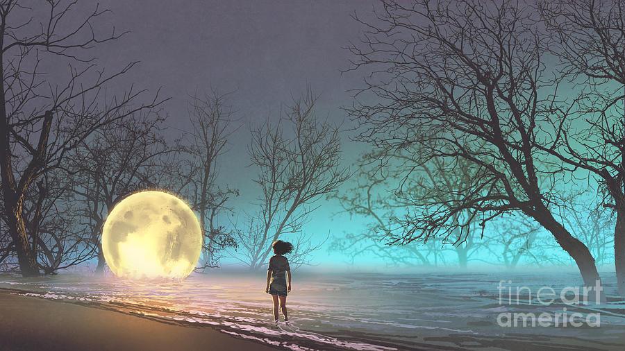 Tiny Moon Painting