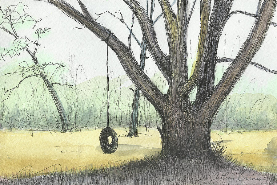 Tire Swing Painting