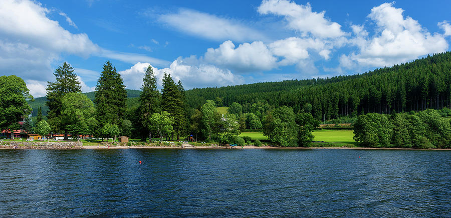 Color Photograph - Titisee Lake In The Black Forest by Vicen Photography