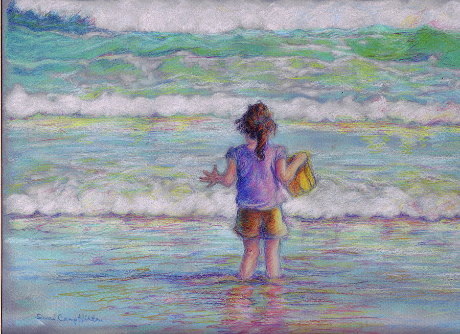 Little Girl Pastel - To Fetch a Pail of Water by Susan Camp Hilton