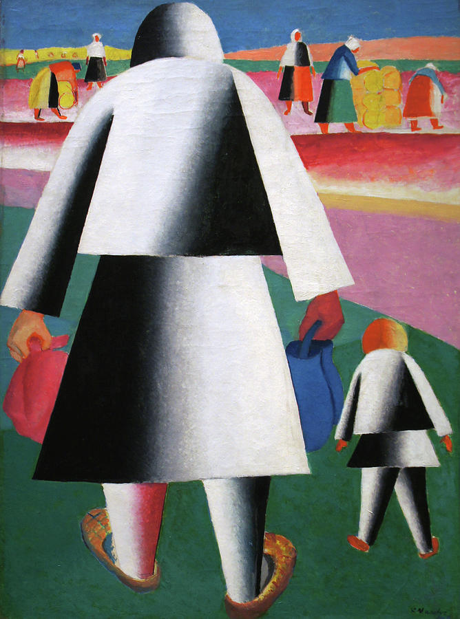 Kazimir Malevich Painting - To the Harvest by Kazimir Malevich