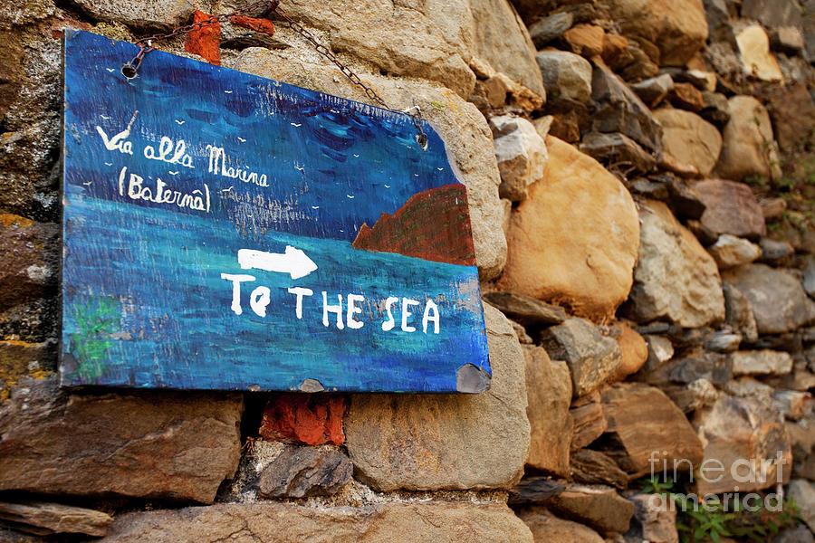 To The Sea - Cinque Terre Italy Photograph