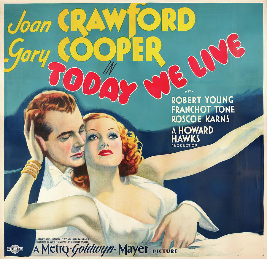 today We Live Poster 1933 Mixed Media