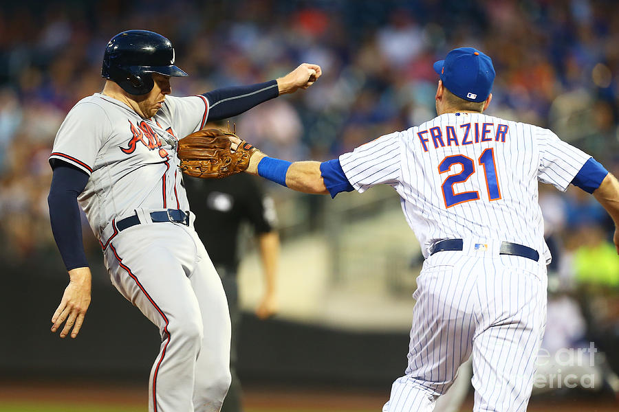 Todd Frazier and Freddie Freeman Photograph by Mike Stobe