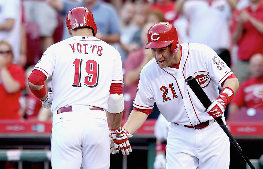 Todd Frazier and Joey Votto Photograph by Andy Lyons