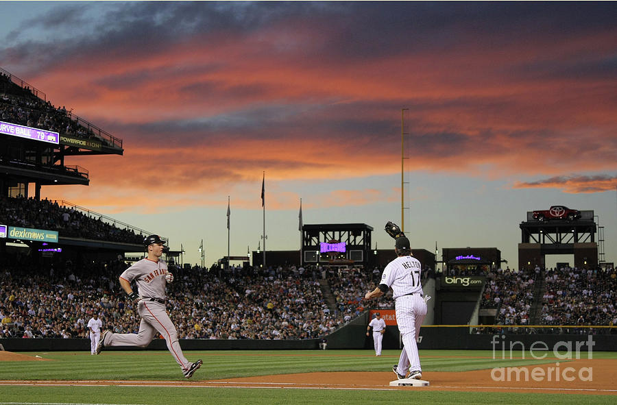 Todd Helton And Buster Posey Photograph by Doug Pensinger