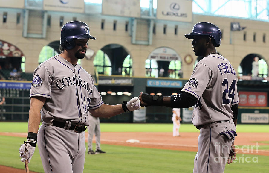 Todd Helton and Dexter Fowler Photograph by Scott Halleran