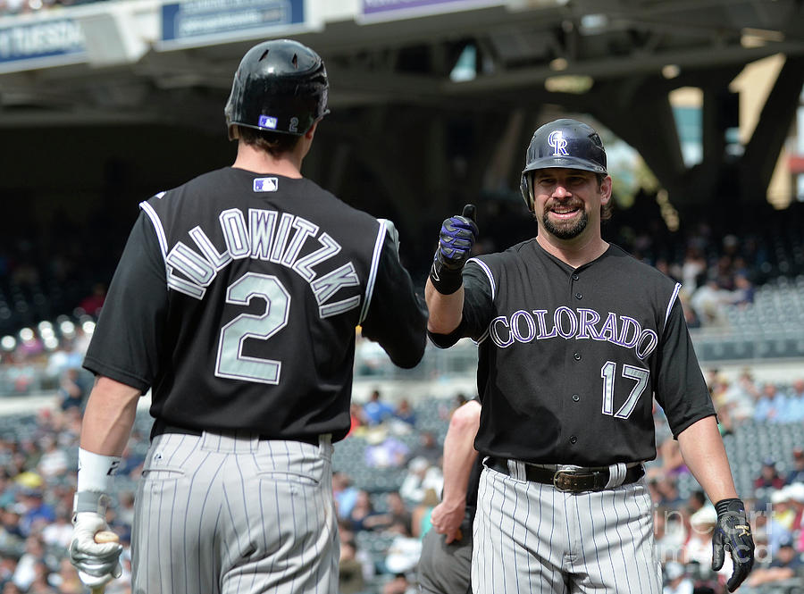 Todd Helton And Troy Tulowitzki Photograph by Denis Poroy