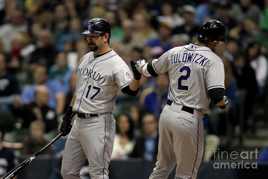 Todd Helton And Troy Tulowitzki Photograph by Mike Mcginnis
