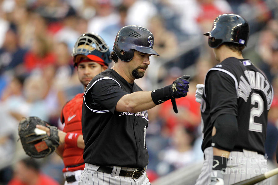 Todd Helton and Troy Tulowitzki Photograph by Rob Carr