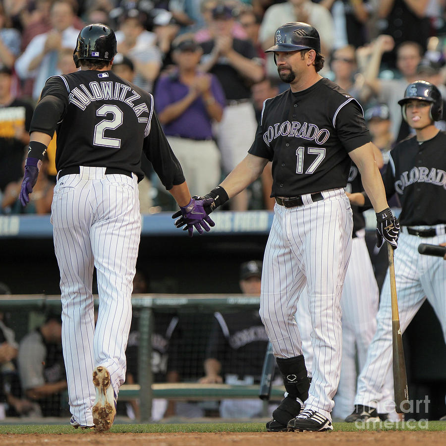 Todd Helton, Troy Tulowitzki, And Anibal Sanchez Photograph by Doug Pensinger