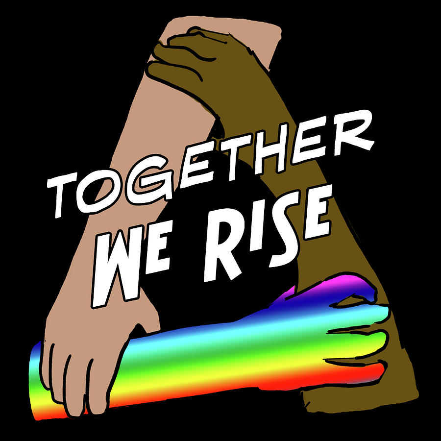 Blm Digital Art - Together We Rise by Revy AP