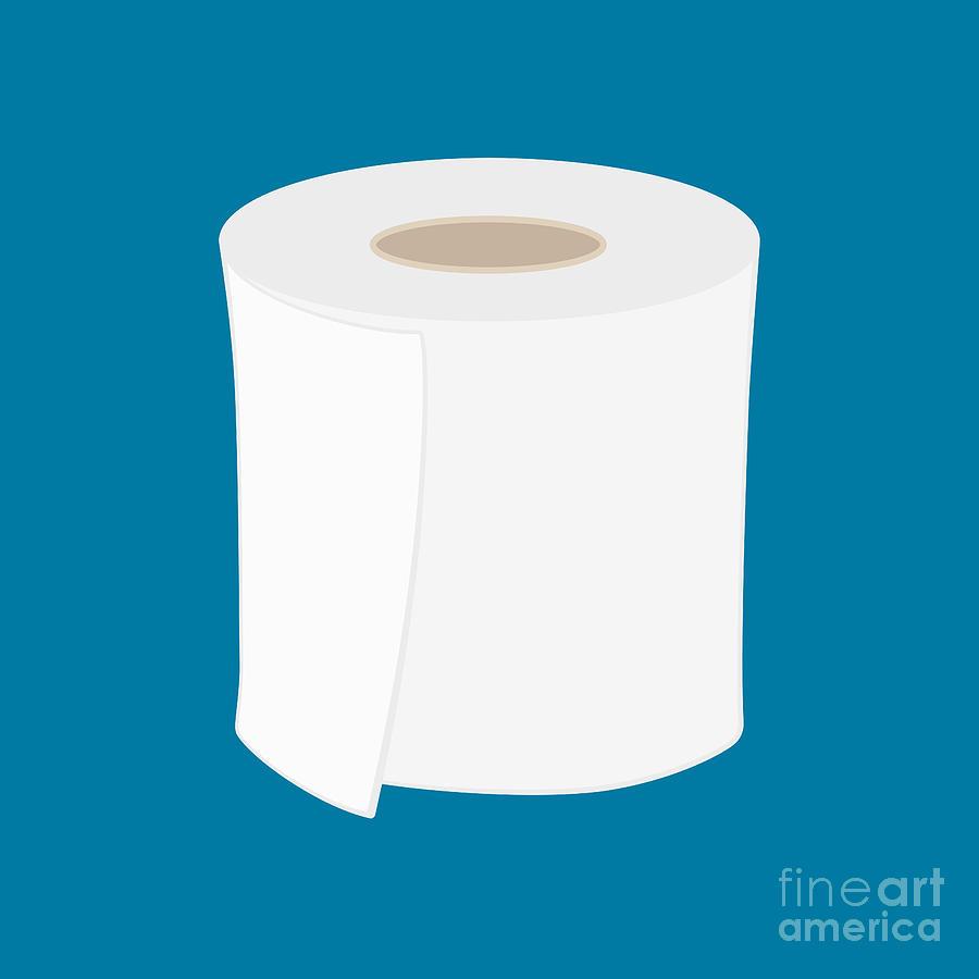 Toilet Paper Roll Digital Art