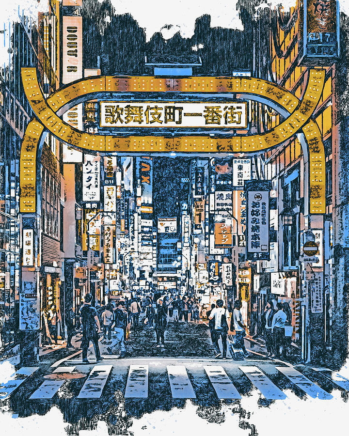 Tokyo Nights - 29 by AM FineArtPrints