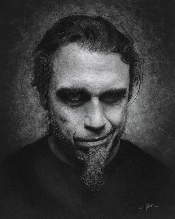 Tom Araya Drawing - Tom Araya by Christian Klute