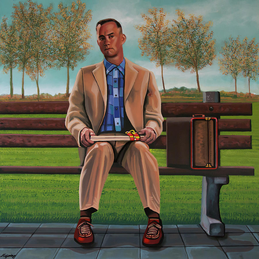 Tom Hanks in Forrest Gump Painting by Paul Meijering
