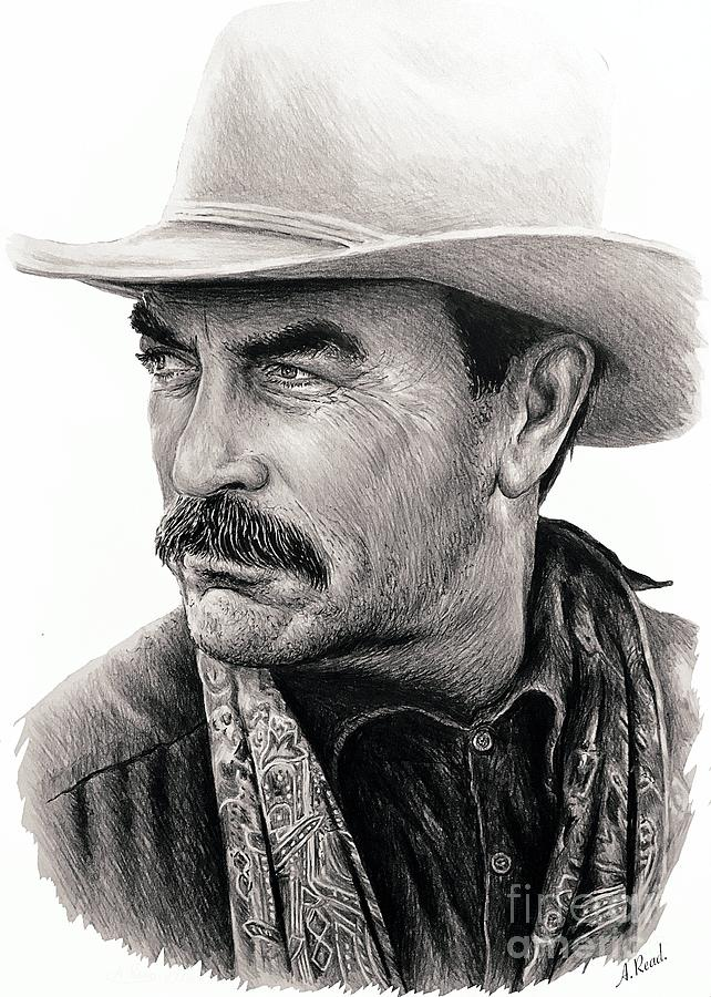 Tom Selleck Movie Icon Drawing
