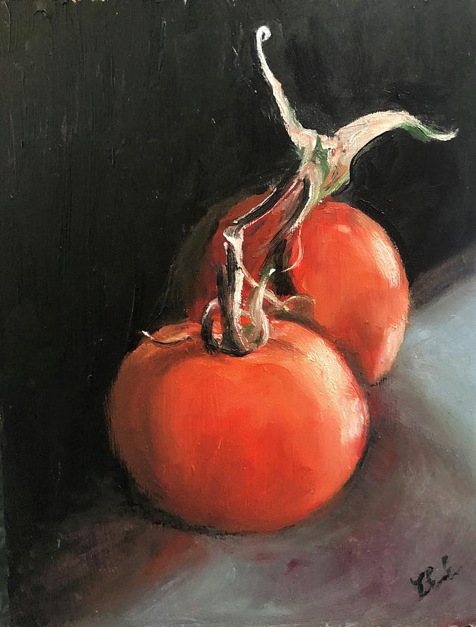 Realism Painting - Tomatoes  by Ted Coombs