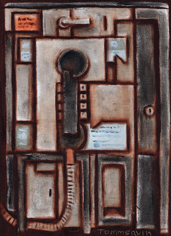 Payphones Painting - Tommervik Flat Payphone Art Print by Tommervik
