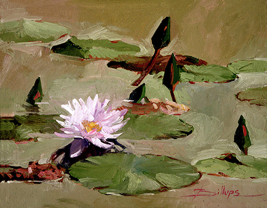 Tomorrows Blooms- Water Lilies Painting by Betty Jean Billups