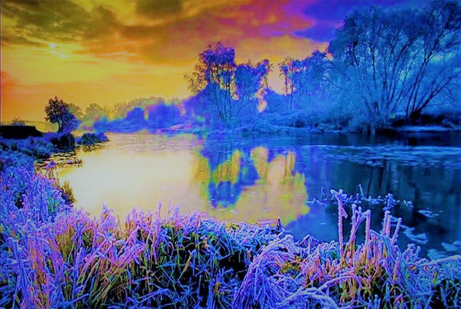 Landscape Painting - Tongue River Fantasy by Joseph Barani
