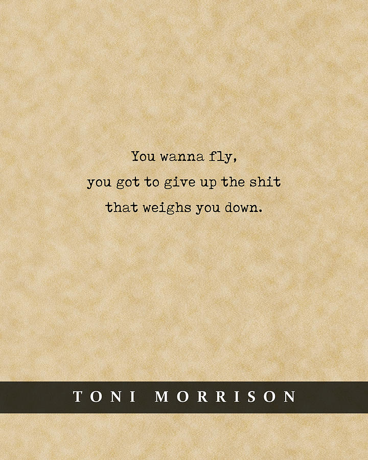 Toni Morrison - Quote Print - Literary Poster 02 Mixed Media