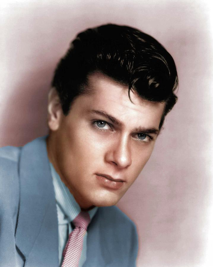 Tony Curtis Colorized Photograph