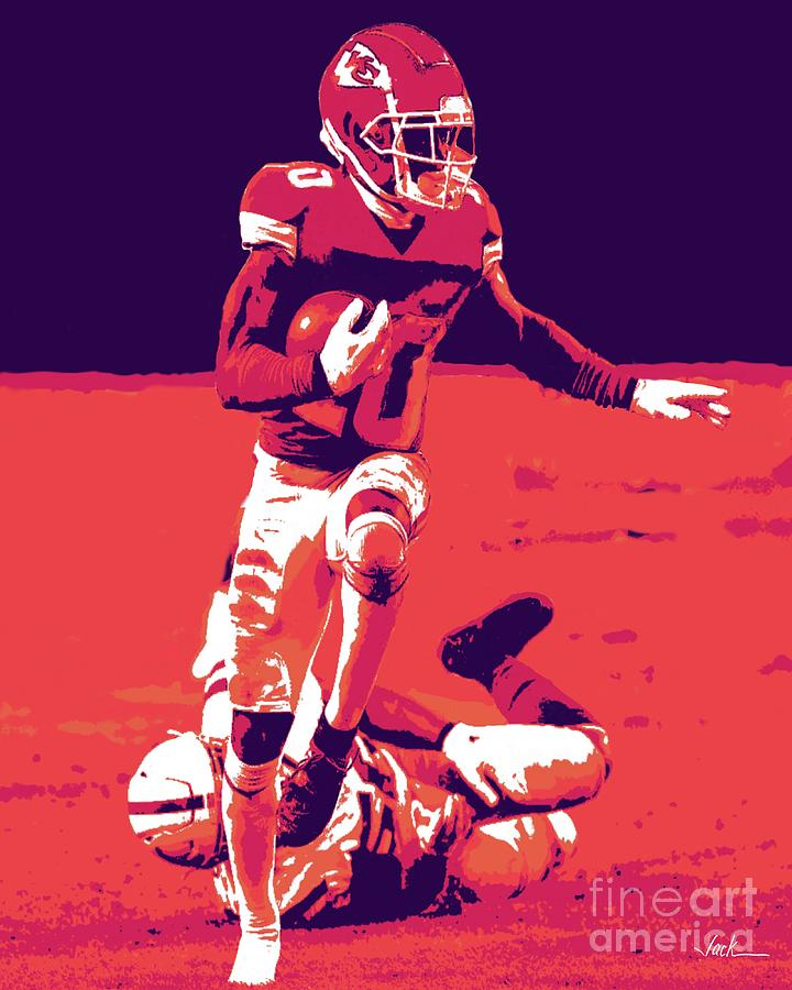 Chiefs Painting - Too Fast For Shoes by Jack Bunds