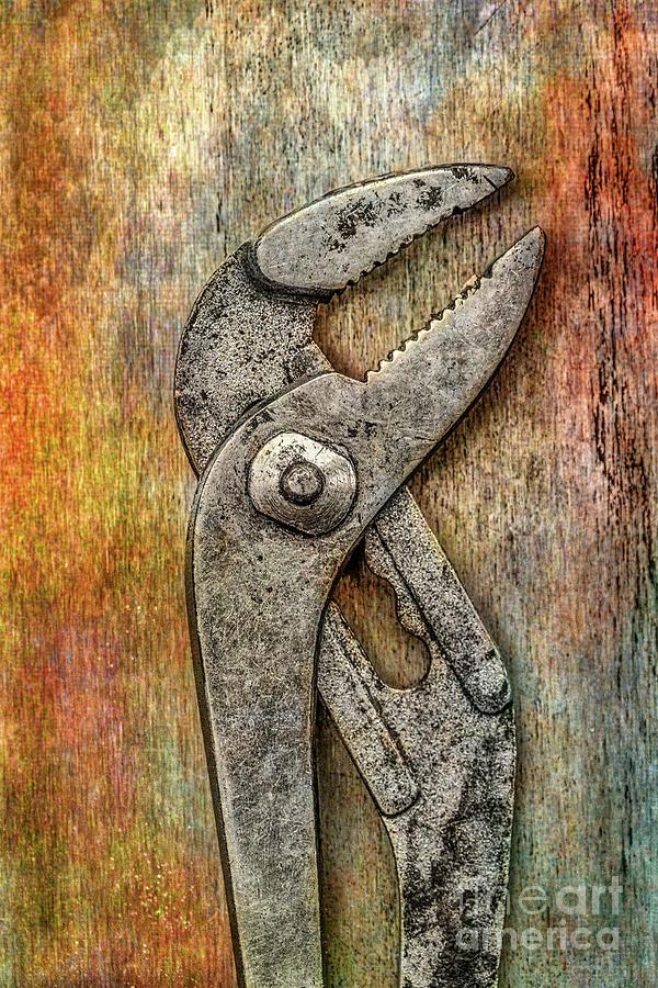 Tool On Rusty Metal Digital Art