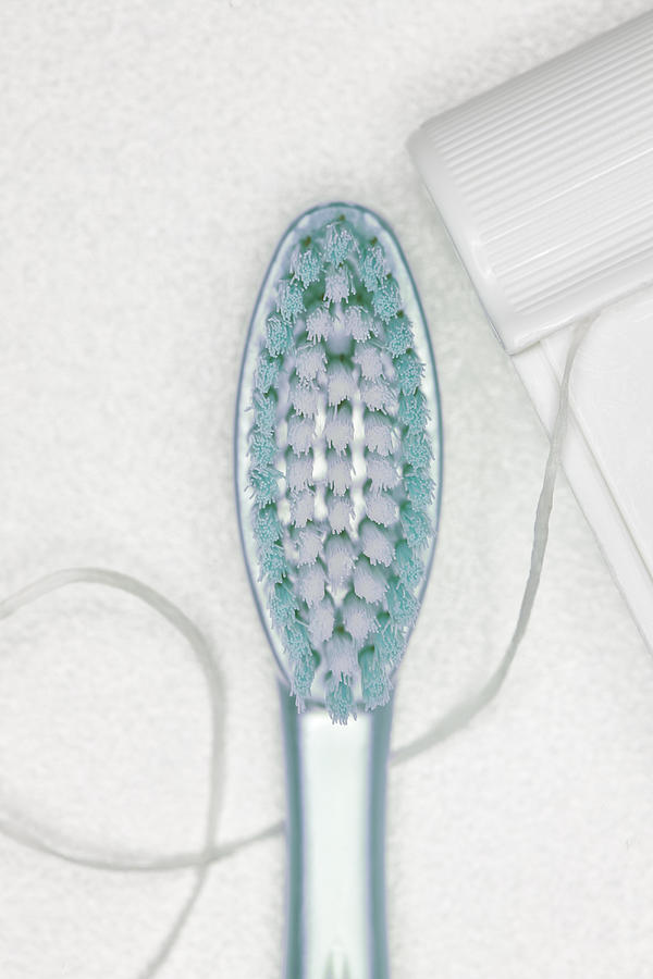 Toothbrush, Dental Floss Photograph by Robert George Young