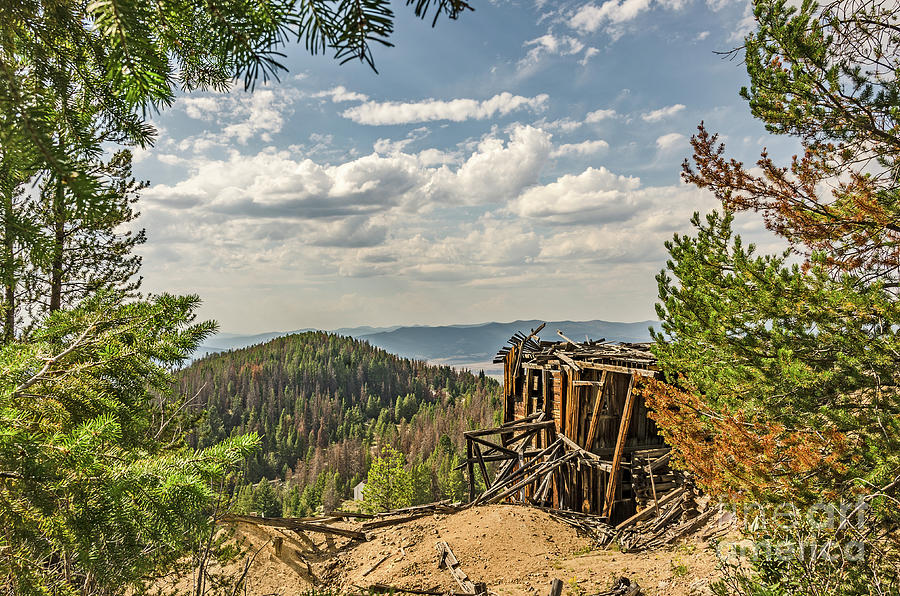 Top of a Mountain Overlooking More Mountains by Sue Smith
