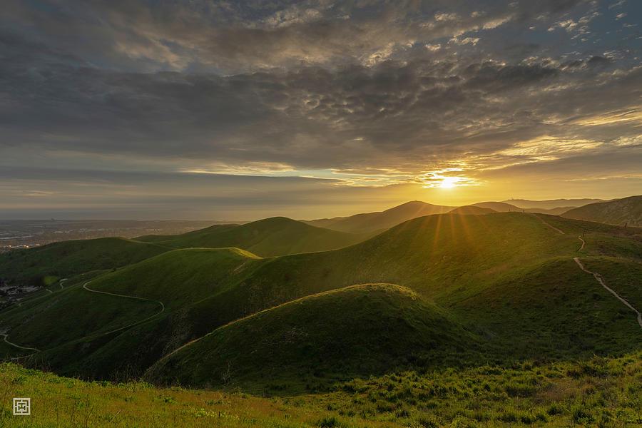 Ventura Photograph - Top of Arroyo Verde Ventura Sunset by Tim Hungerford