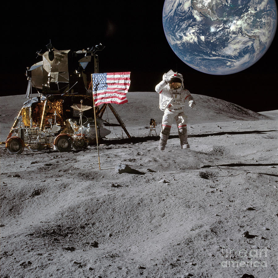 Top Of The World - Moon Landing Photograph
