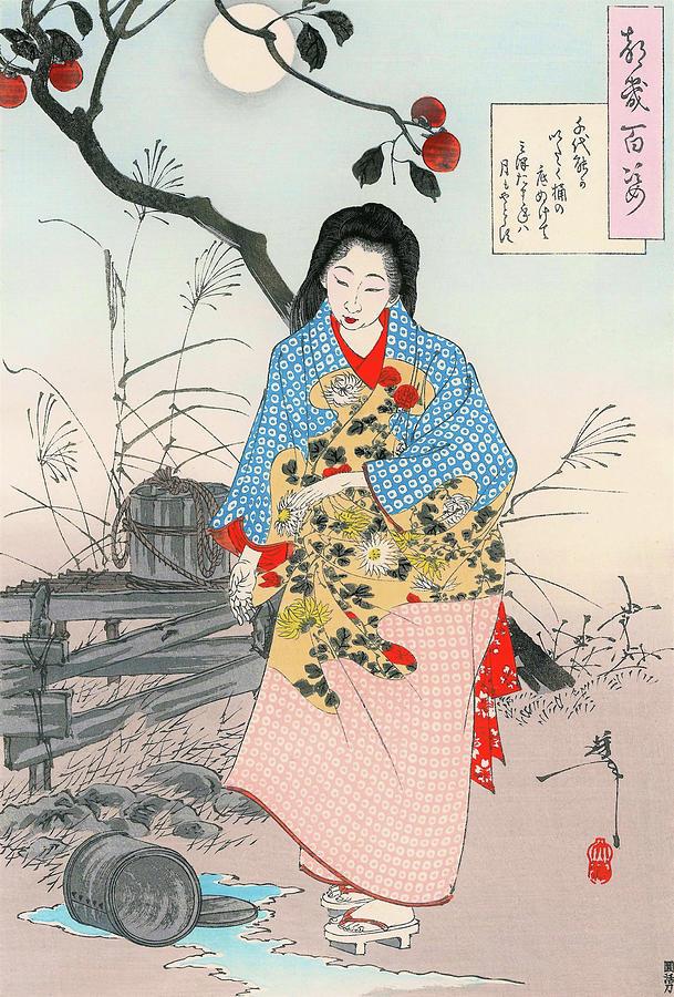 Yoshitoshi Painting - Top Quality Art - ADACHI CHIYONO by Tsukioka Yoshitoshi