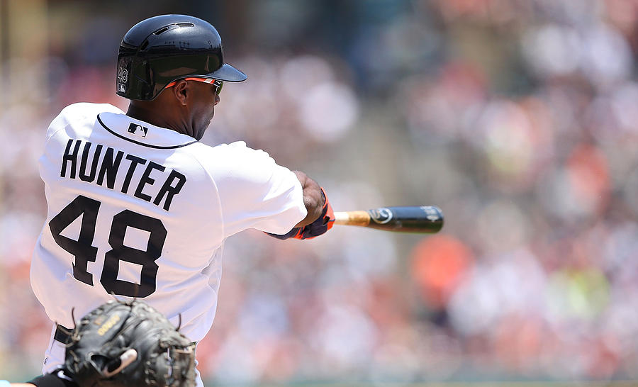 Torii Hunter Photograph by Leon Halip