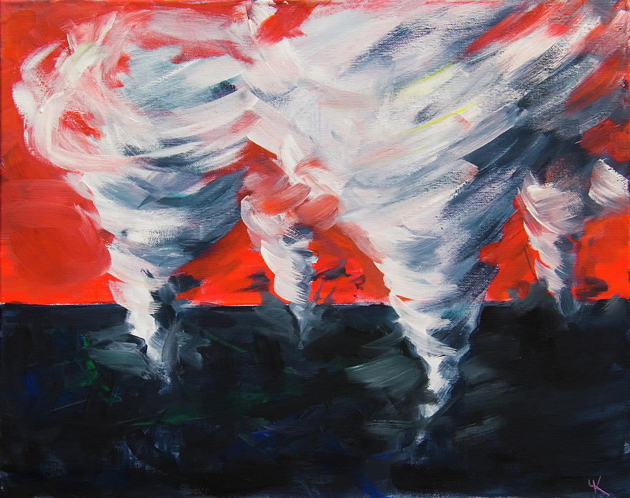 Tornadoes Apocalyptic Dream by Yulia Kazansky