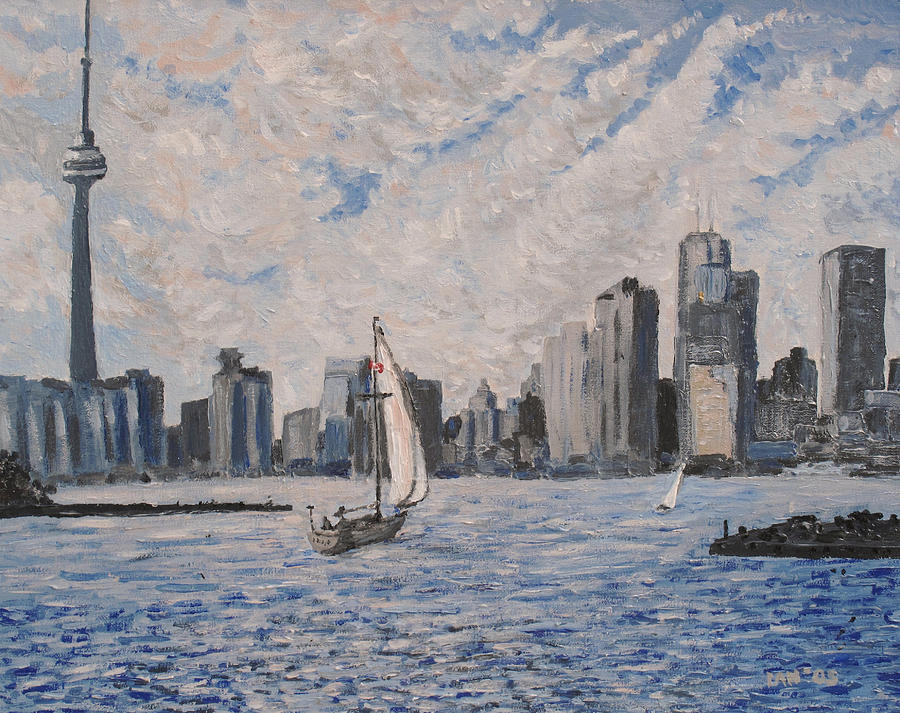 Toronto Painting - Toronto Harbor East Gap by Ian  MacDonald