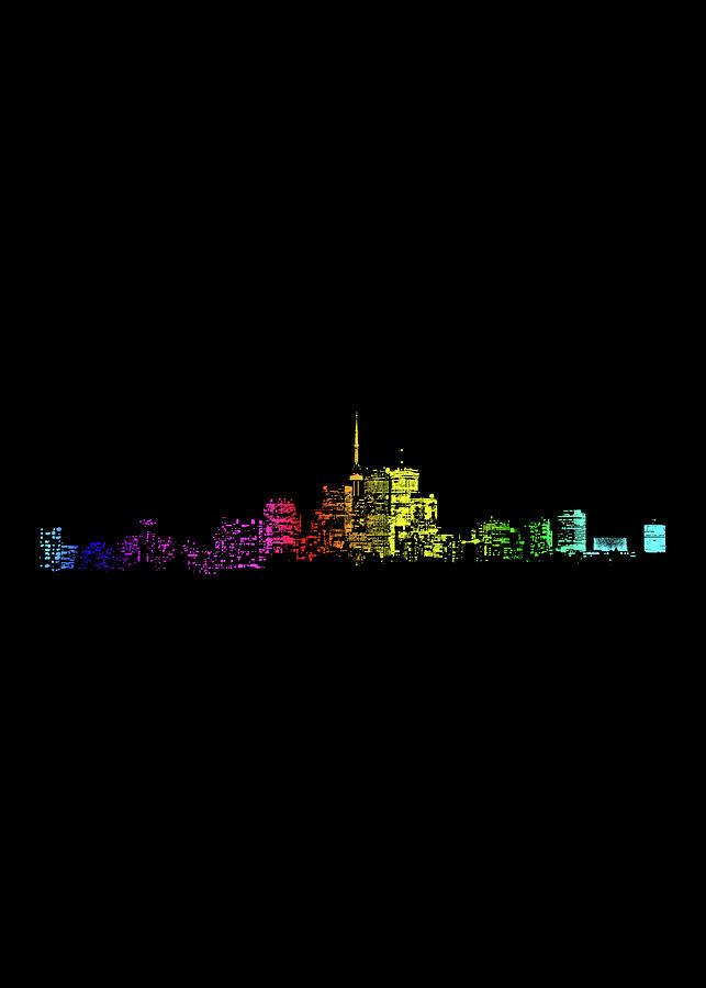 Toronto Skyline Gradient Repost Digital Art