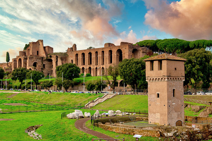 Torre Moletta and the Palatine Hill by Fabrizio Troiani