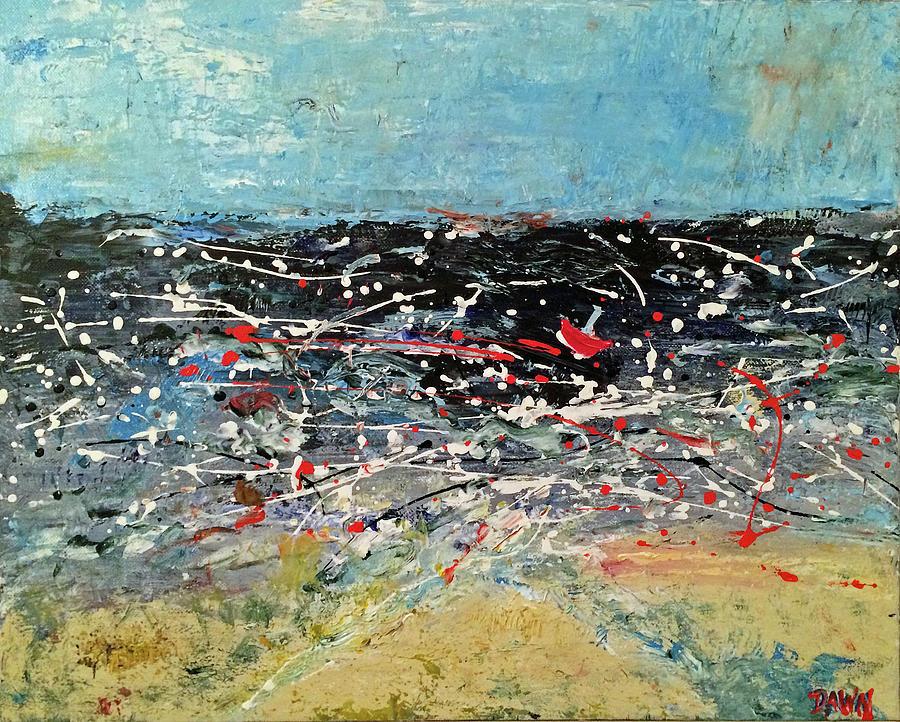 Tossed Upon The Angry Wave Painting