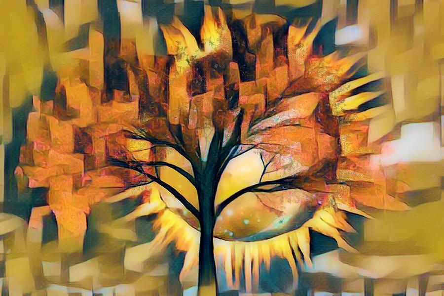 Total Eclipse Corona Abstract by Debra and Dave Vanderlaan